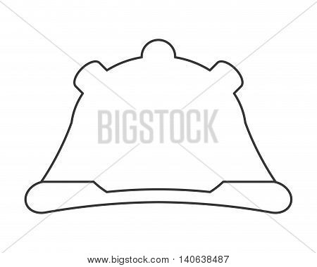 flat design construction helmet icon vector illustration