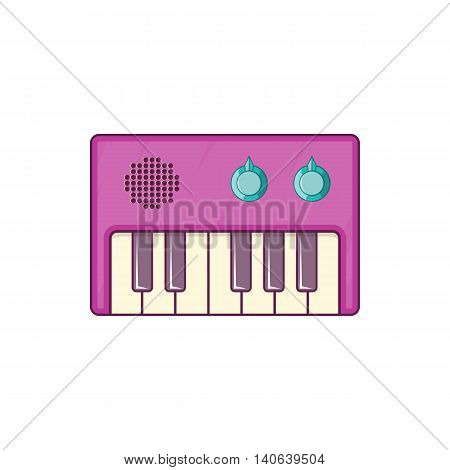Synth icon in cartoon style isolated on white background. Musical instrument symbol