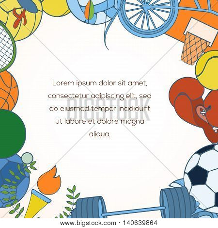 Sport invitation card vector photo free trial bigstock sport invitation card can be used for holiday cards wedding invitation postcard or website stopboris Image collections