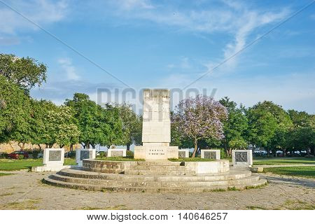 Monument For The Union Of Corfu With Greece