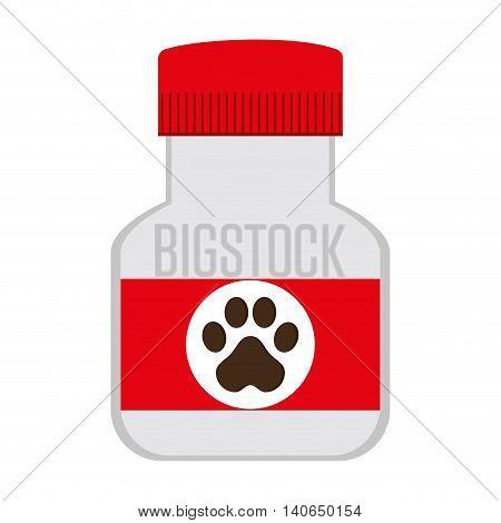flat design veterinary medicine icon vector illustration