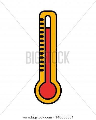 thermometer temperature measure icon vector isolated graphic