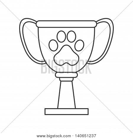 flat design pet award icon vector illustration