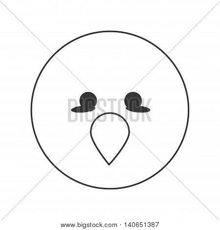 flat design cute bird cartoon icon vector illustration