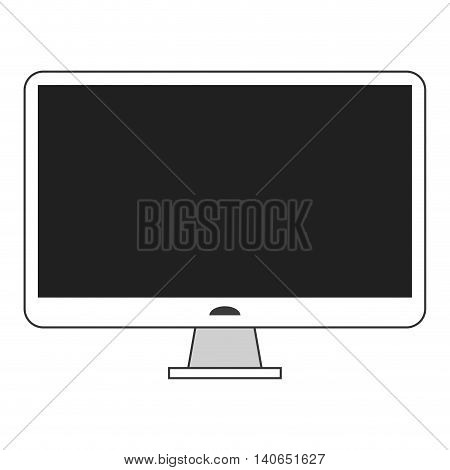 simple flat design computer monitor icon vector illustration