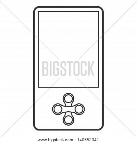 flat design mobile music player icon vector illustration