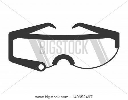flat design modern glasses icon vector illustration