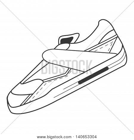 flat design single sneaker icon vector illustration
