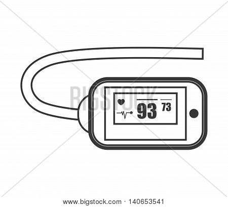 flat design heartrate wrist tracker icon vector illustration