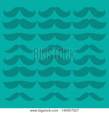 flat design retro mustache set icon vector illustration