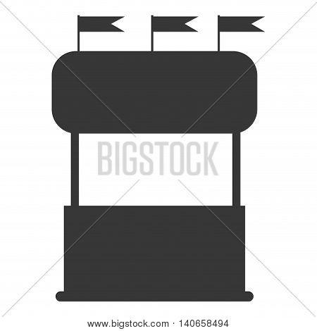 flat design carnival fair booth icon vector illustration