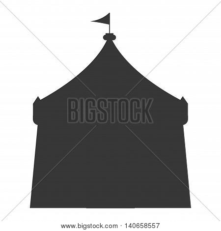 flat design circus tent icon vector illustration