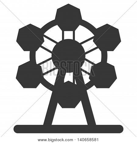 flat design ferris wheel icon icon vector illustration
