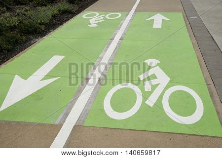 Green Icon Bike Lane in Nashville, Tennessee