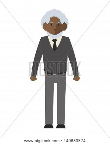 flat design senior man icon vector illustration