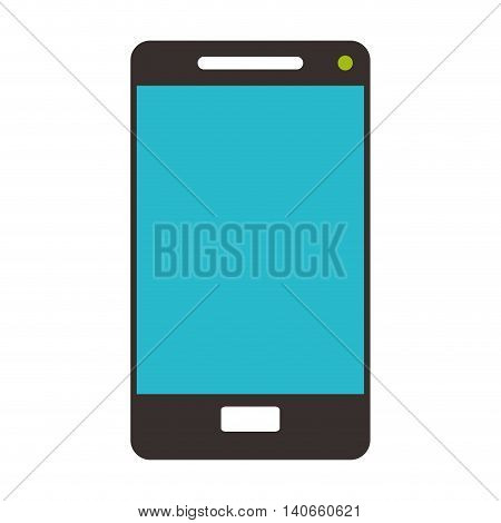 flat design modern cellphone icon vector illustration