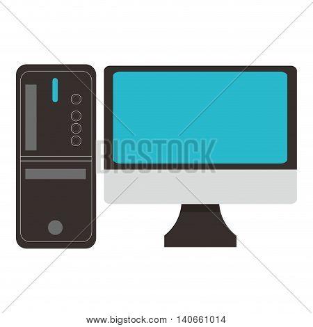 flat design simple computer icon vector illustration