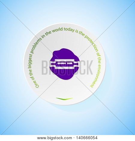 Environmental icons depicting dough with shadow, abstract vector illustration