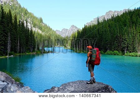 Nada lake Enchantment Lakes basin Leavenworth Seattle Washington state USA.