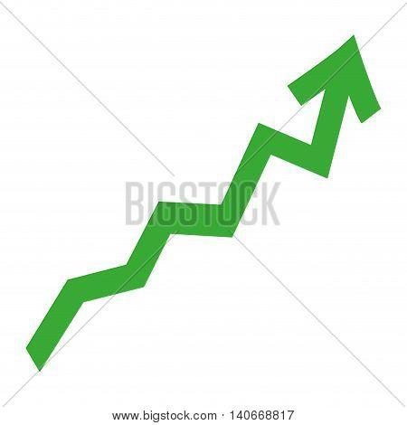 flat design zig zag up arrow icon vector illustration