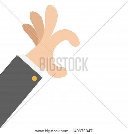 flat design hand hold gesture icon vector illustration