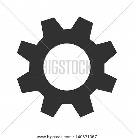 flat design single gear icon vector illustration