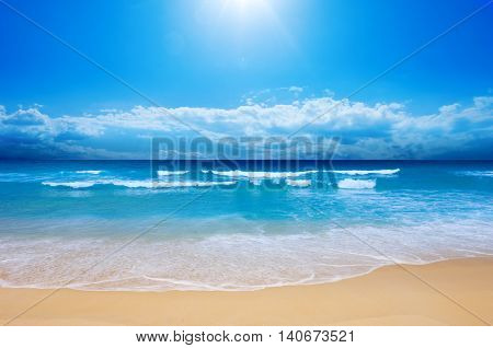 Gorgeous Beach in Summertime relaxation and vacation
