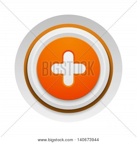 UI interface button add element. Vector internet add button positive isolated. Website accept add button success mark approved tick concept. Correct shiny sign.