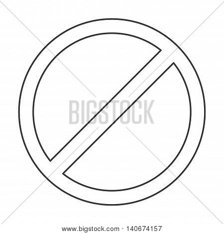 flat design restriction sign icon vector illustration