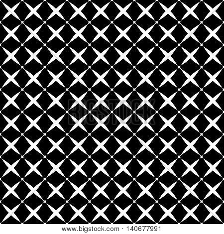 Stars geometric seamless pattern. Fashion graphic background design. Modern stylish abstract texture. Monochrome template for prints textiles wrapping wallpaper website. Stock VECTOR illustration