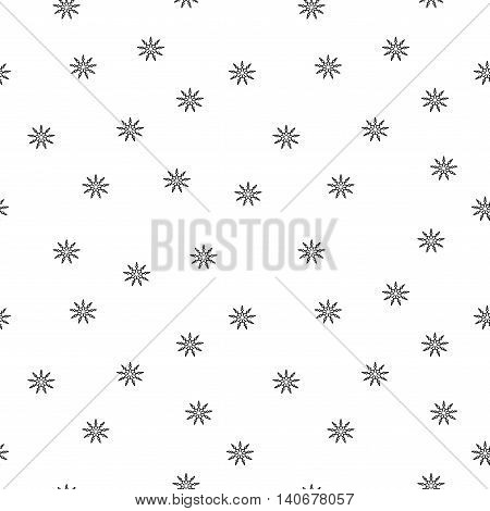Flowers chaotic seamless pattern. Fashion graphic background design. Modern stylish abstract texture. Monochrome template for prints textiles wrapping wallpaper Stock VECTOR illustration