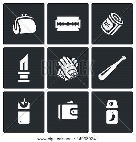 Handbag, Razor, Finance, Knife, Gloves, Bat, Teaser, Purse, Tear Gas