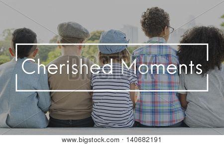 Cherished Moments Children Childhood Innocent Kids Concept