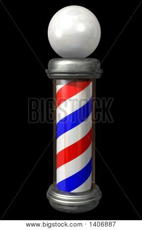 Barberpole On Black