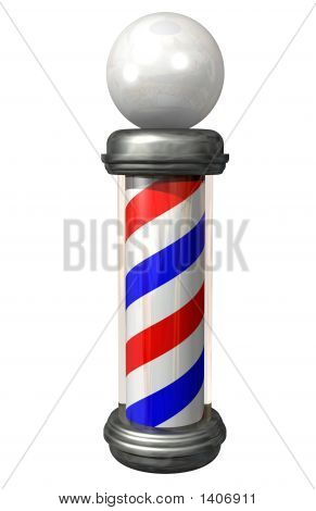Barberpole On White