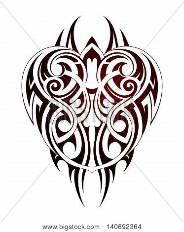 Maori style tattoo shape as ethnic body art ornament