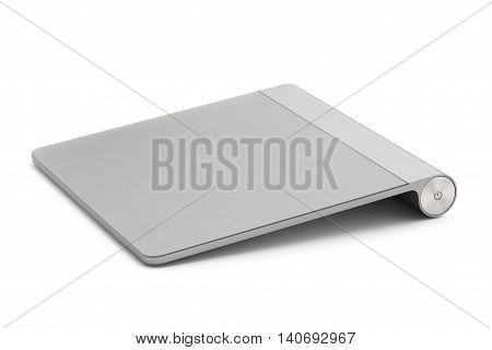 Computer touchpad isolated on white background .