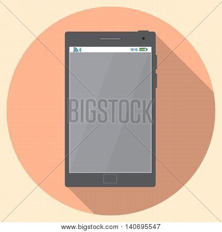 Flat icon of Smartphone Stock vector illustration.