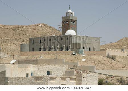 Mosque In The Desert Oasis