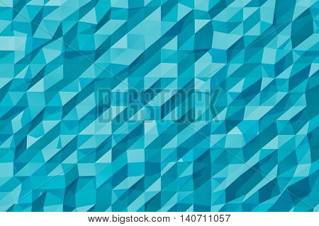 Abstract Lowpoly Background extreme closeup. 3d Rendering