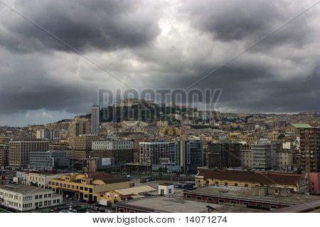 Stormy Clouds Over Naples, View From Bay