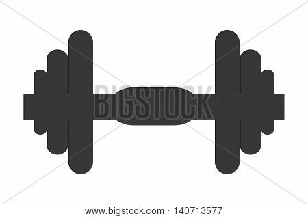 flat design single dumbell icon vector illustration