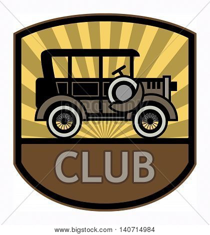 Retro Club label or sign, vector illustration