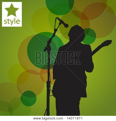 guitar player on the abstract background