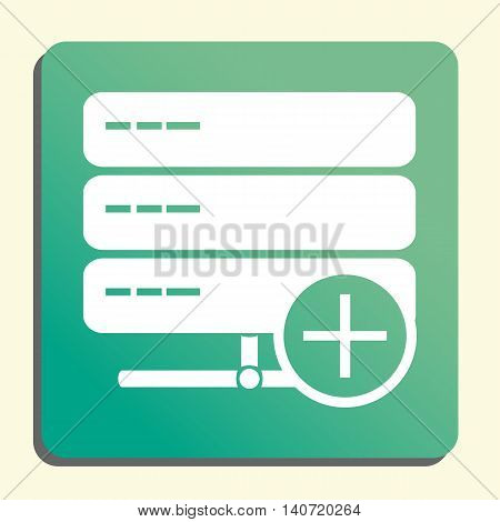 Server Add Icon In Vector Format. Premium Quality Server Add Symbol. Web Graphic Server Add Sign On