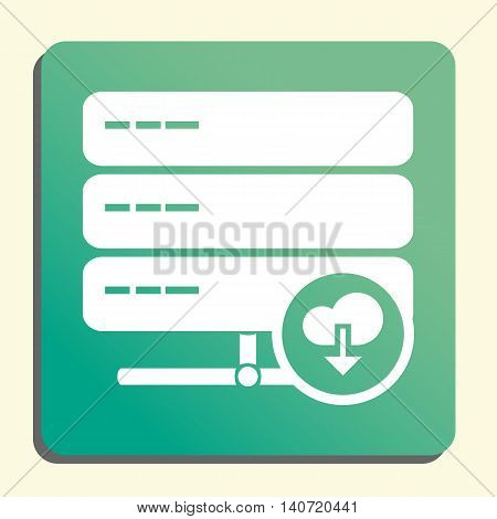 Server Download Icon In Vector Format. Premium Quality Server Download Symbol. Web Graphic Server Do