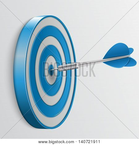 Target with darts, Target 3d icon, Vector illustration