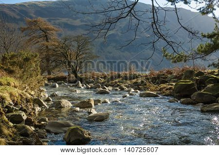 Nether Beck at Wasdale Cumbria with Illgill Head in the background