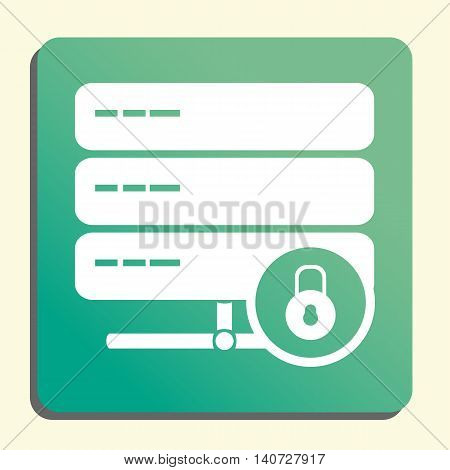 Server Lock Close Icon In Vector Format. Premium Quality Server Lock Close Symbol. Web Graphic Serve
