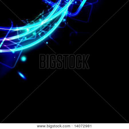 abstract glowing background - rasterized vector poster